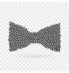 Abstract creative concept icon of bowtie vector