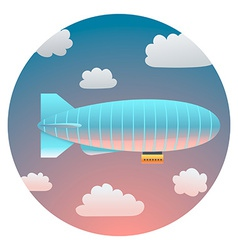 Airship detailed vector