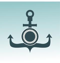 Anchor nautical symbol badge vector