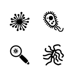 Bacteria simple related icons vector