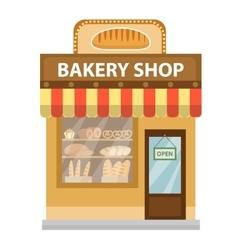 Bakery shop baking store building icon bread vector