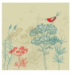 bird garden vector image