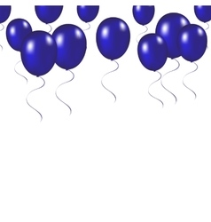 Blue festive balloons background vector