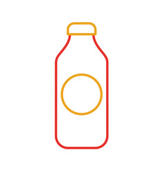 bottle juice drink market product element vector image