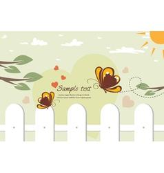 Butterflies in love vector