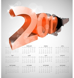 Calendar for the new year vector