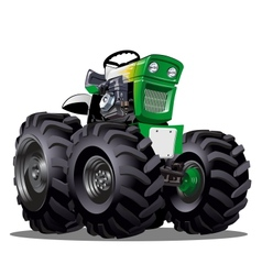 Cartoon Tractor vector image