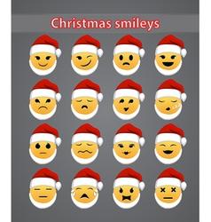 Celebratory christmas smileys vector