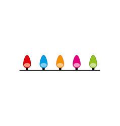 christmas color light bulb event seasonal vector image