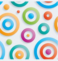 Colorful circles walpaper vector