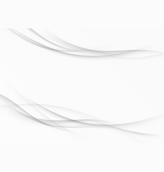 Contemporary modernistic grey swoosh lines layout vector