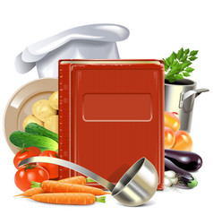 Cooking book vector
