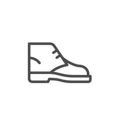 desert boot line icon vector image vector image