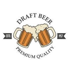 Draft beer vector