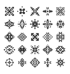 Ethnic Geometric Elements Set vector image vector image