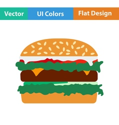 Flat design icon of Hamburger vector image vector image