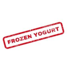 Frozen yogurt text rubber stamp vector