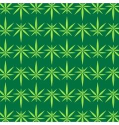 Green marijuana pattern vector