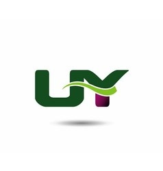 Letter u and y monogram logo vector