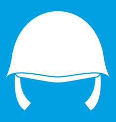Military helmet icon white vector