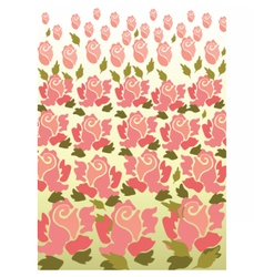 Rose flower pattern background vector