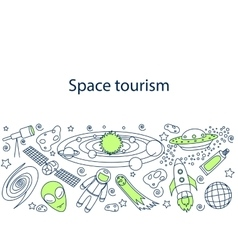 Space tourism banner vector