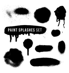Spray paint splatter texture vector
