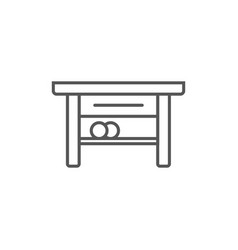 table isolated icon in linear style vector image vector image