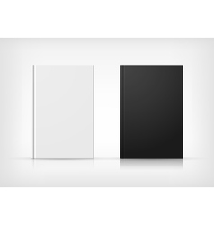 Black and white book covers vector