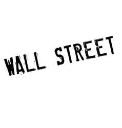Wall street stamp vector