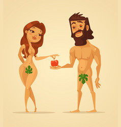 Adam and eve characters vector