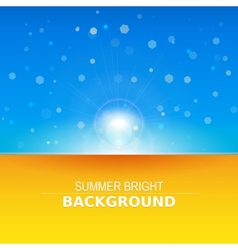 Sun rays  sunbeams background vector