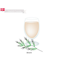 Akvavit or aquavit a traditional dink in denmark vector