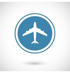 Plane and travel icon vector image