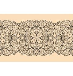 Seamless lace ribbon vector image