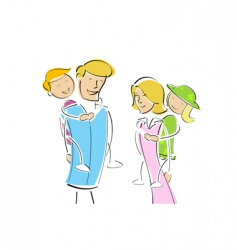 family outing vector image