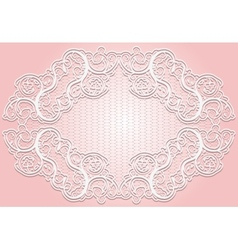Stylish invitation or greeting card elegant lace vector