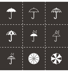 Umbrella icon set vector