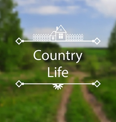 Country Life vector image