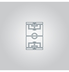 Soccer field icon eps 10 vector