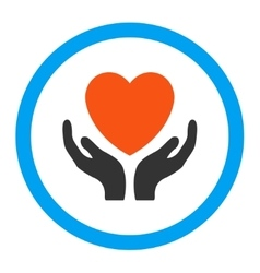 Charity rounded icon vector