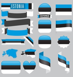 Estonia flags vector