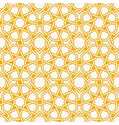 Arabesque Islam Geometric pattern seamless vector image