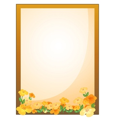A framed empty signage with flowers vector image vector image