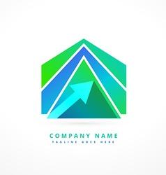 abstract arrow shape business logo design vector image vector image