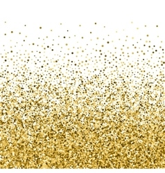 Abstract Falling Golden Parts Confetti Background vector image
