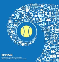 Baseball icon nice set of beautiful icons twisted vector