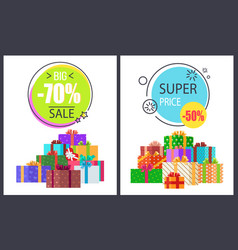 Big total sale - 70 off super half price discounts vector