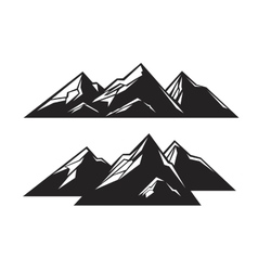 black mountain vector image