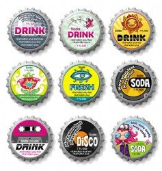 bottle caps set vector image vector image